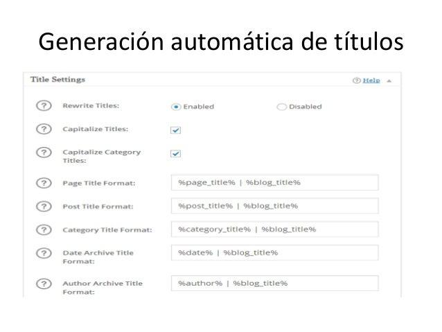 Generación automática de títulos