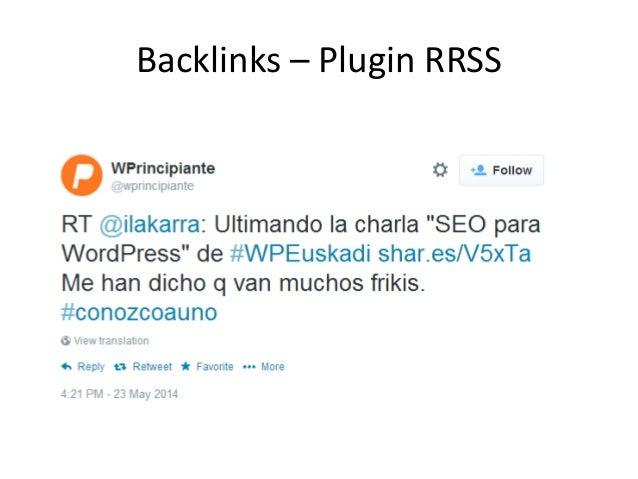 Backlinks – Plugin RRSS