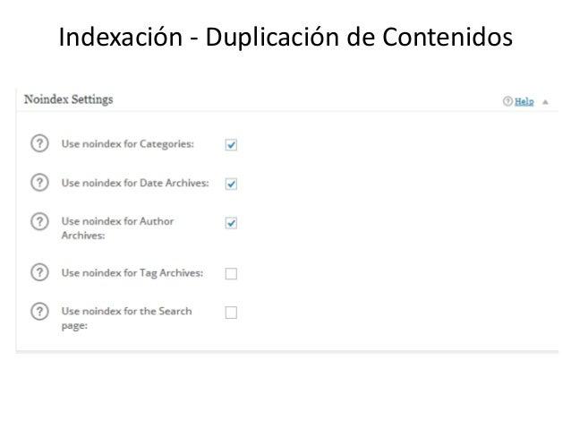 Indexación - Duplicación de Contenidos