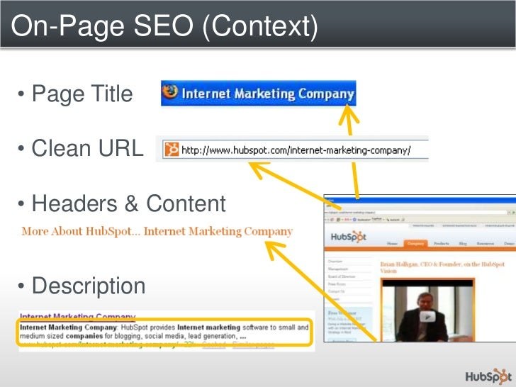 On-Page SEO (Context)<br /><ul><li> Page Title