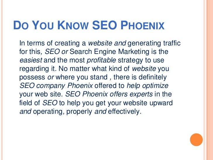 Seo phoenix Slide 2