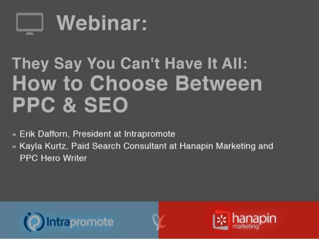 Main Topics:① Why is it preferred to have both PPC and SEO  efforts implemented?① In what situations would a brand be requ...