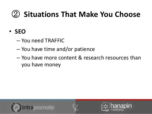 ② Situations That Make You Choose• SEO – [alternative to …]