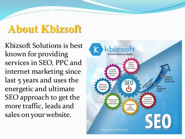 SEO Services Offered By Kbizsoft Solutions Slide 2
