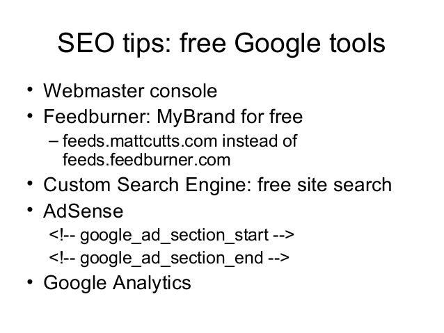 Search Engine Optimization PPT slideshare - 웹