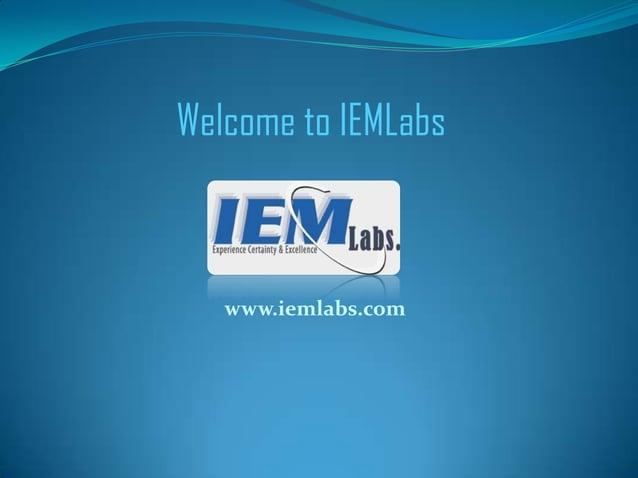 Welcome to IEMLabs www.iemlabs.com