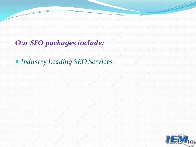 Our SEO packages include:  Industry Leading SEO Services