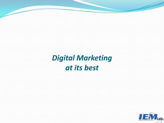 Digital Marketing at its best