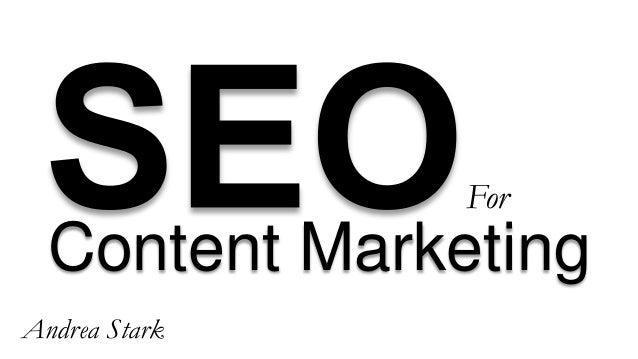 Content Marketing For Andrea Stark