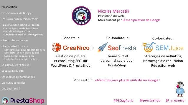 Donner plus de visibilité Google à PrestaShop Slide 2