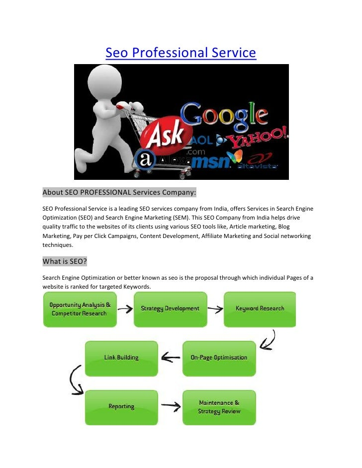 "HYPERLINK ""http://www.seoprofessionalservice.com"" Seo Professional Service<br />About SEO PROFESSIONAL Services Company: ..."