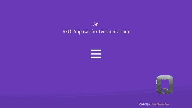 An SEO Proposal for Tensator Group Q-Manager | DigitalMarketing Team