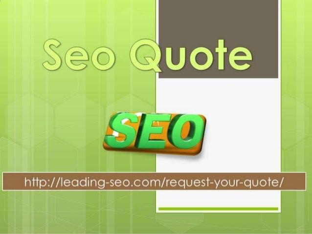 Seo quote