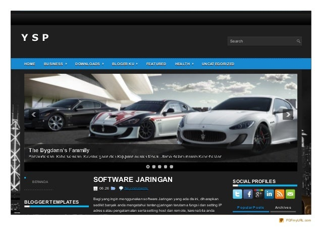 Y S PY S P Search BLOGGER TEMPLATESBLOGGER TEMPLATES CATEGORIESCATEGORIES SOFTWARE JARINGANSOFTWARE JARINGAN 06.2606.26 No...