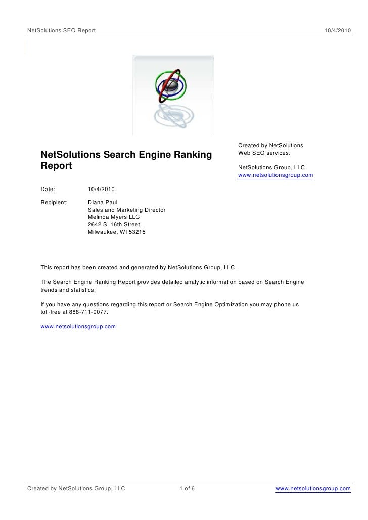 NetSolutions SEO Report                                                                                   10/4/2010       ...