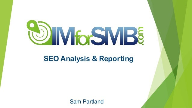 Sam Partland SEO Analysis & Reporting
