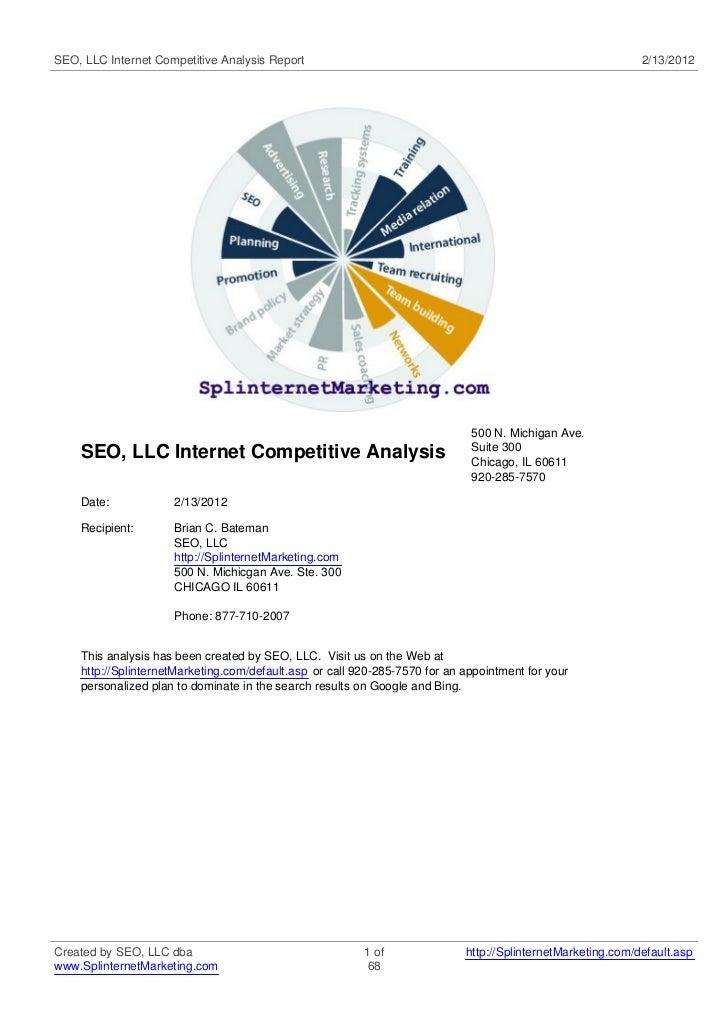 SEO, LLC Internet Competitive Analysis Report                                                                2/13/2012    ...