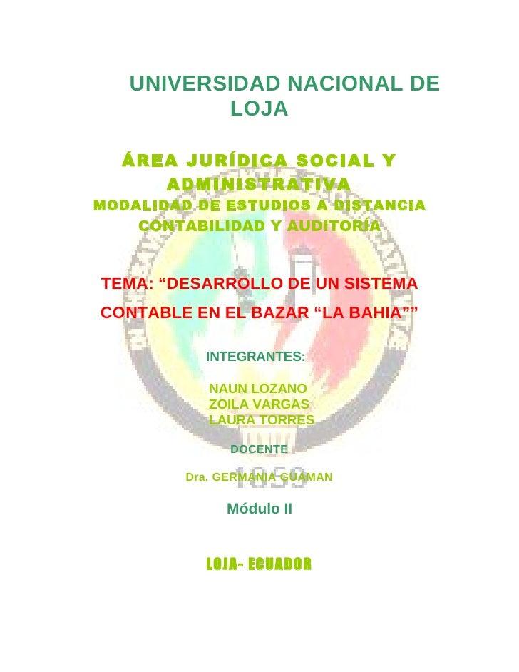 UNIVERSIDAD NACIONAL DE           LOJA    ÁREA JURÍDICA SOCIAL Y      ADMINISTRATIVA MODALIDAD DE ESTUDIOS A DISTANCIA    ...