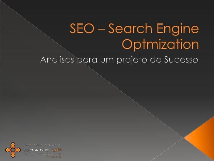 SEO – Search EngineOptmization<br />Analises para um projeto de Sucesso<br />