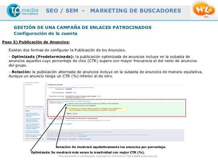 SEO / SEM -                     MARKETING DE BUSCADORES     GESTIÓN DE UNA CAMPAÑA DE ENLACES PATROCINADOS     Configuraci...