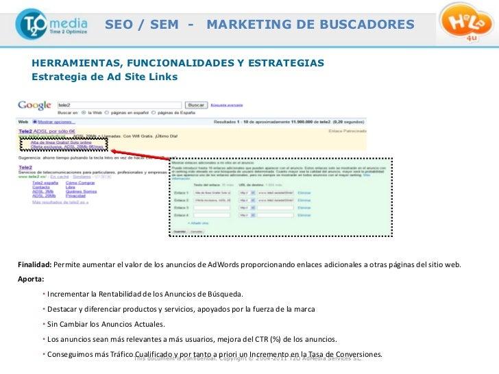SEO / SEM -                     MARKETING DE BUSCADORES    HERRAMIENTAS, FUNCIONALIDADES Y ESTRATEGIAS    Estrategia de Ad...
