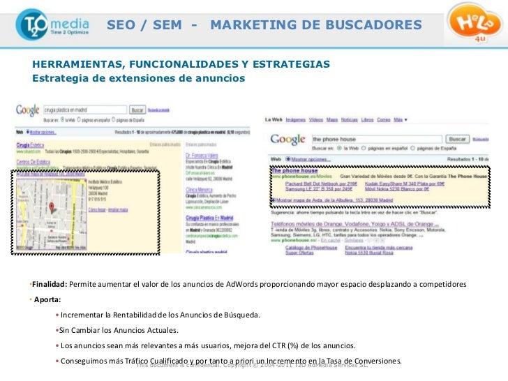 SEO / SEM -                  MARKETING DE BUSCADORESHERRAMIENTAS, FUNCIONALIDADES Y ESTRATEGIASEstrategia de extensiones d...