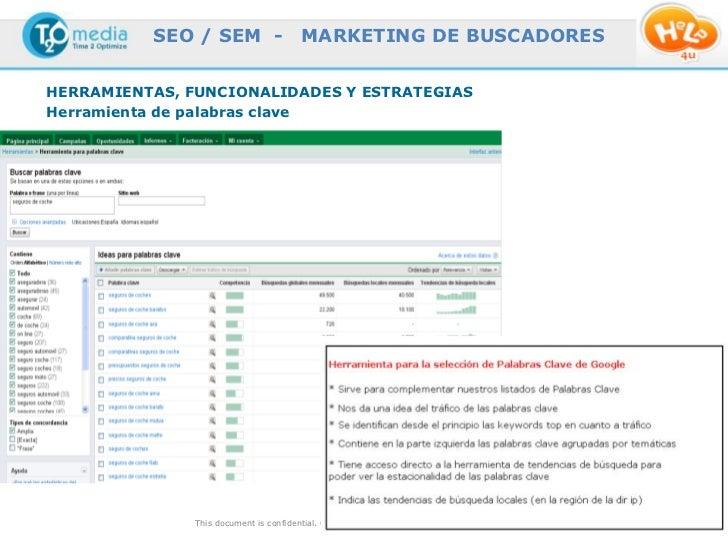 SEO / SEM -                  MARKETING DE BUSCADORESHERRAMIENTAS, FUNCIONALIDADES Y ESTRATEGIASHerramienta de palabras cla...