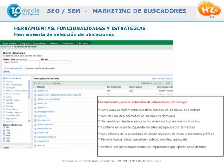 SEO / SEM -                  MARKETING DE BUSCADORESHERRAMIENTAS, FUNCIONALIDADES Y ESTRATEGIASHerramienta de selección de...