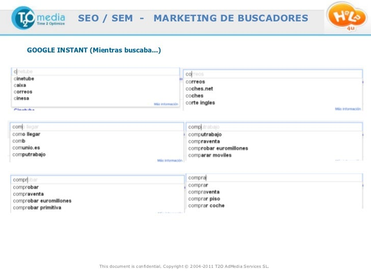 SEO / SEM -                   MARKETING DE BUSCADORESGOOGLE INSTANT (Mientras buscaba...)                   This document ...