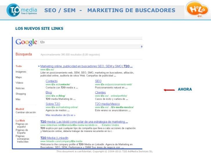 SEO / SEM -                   MARKETING DE BUSCADORESLOS NUEVOS SITE LINKS                                                ...