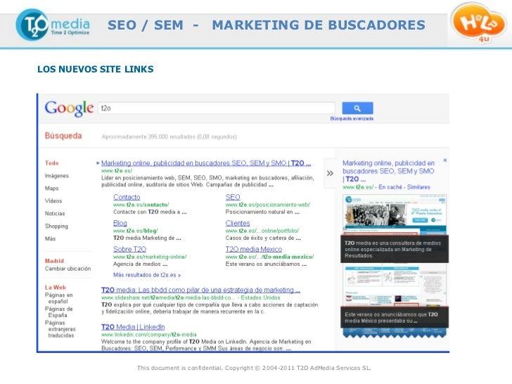 SEO / SEM -                   MARKETING DE BUSCADORESLOS NUEVOS SITE LINKS                  This document is confidential....