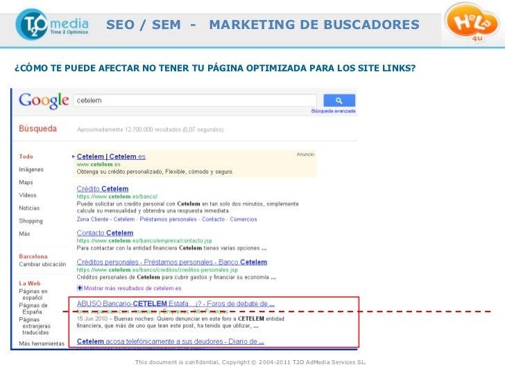 SEO / SEM -                  MARKETING DE BUSCADORES¿CÓMO TE PUEDE AFECTAR NO TENER TU PÁGINA OPTIMIZADA PARA LOS SITE LIN...