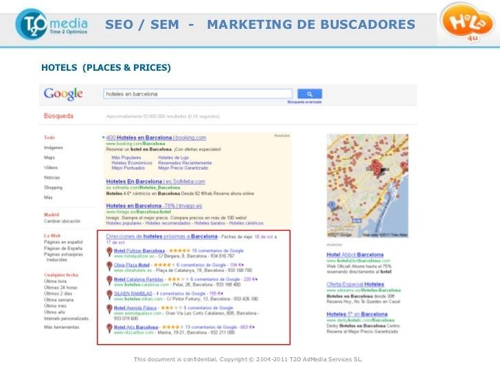 SEO / SEM -                   MARKETING DE BUSCADORESHOTELS (PLACES & PRICES)                 This document is confidentia...