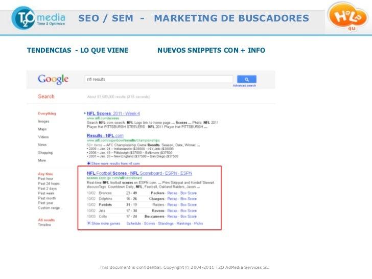 SEO / SEM -                  MARKETING DE BUSCADORESTENDENCIAS - LO QUE VIENE                  NUEVOS SNIPPETS CON + INFO ...