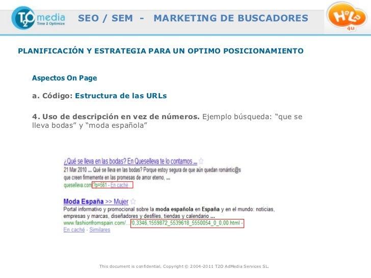 SEO / SEM -                     MARKETING DE BUSCADORESPLANIFICACIÓN Y ESTRATEGIA PARA UN OPTIMO POSICIONAMIENTO  Aspectos...