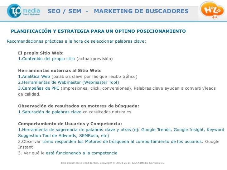 SEO / SEM -                    MARKETING DE BUSCADORES PLANIFICACIÓN Y ESTRATEGIA PARA UN OPTIMO POSICIONAMIENTORecomendac...