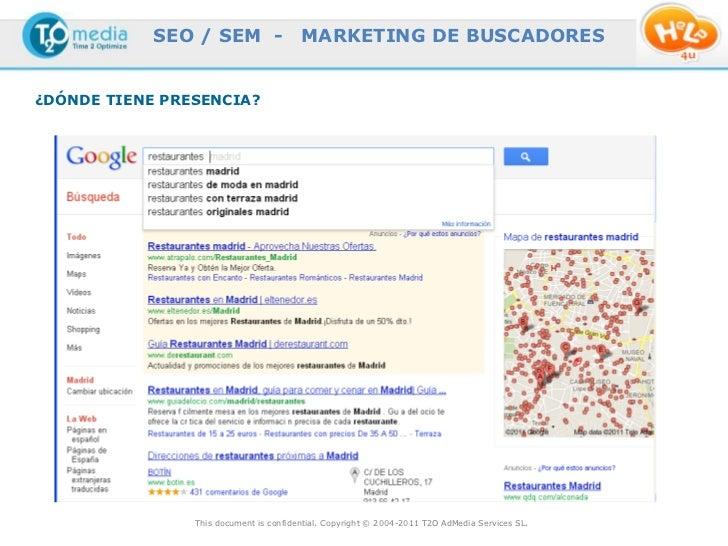 SEO / SEM -                 MARKETING DE BUSCADORES¿DÓNDE TIENE PRESENCIA?                This document is confidential. C...