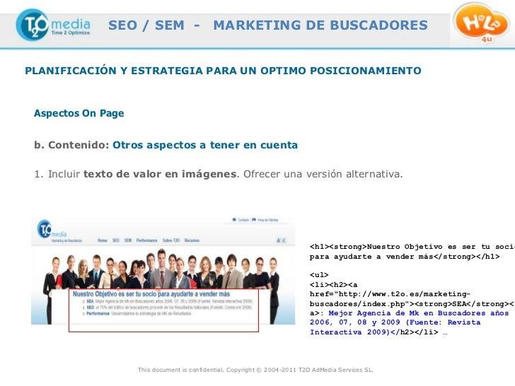 SEO / SEM -                  MARKETING DE BUSCADORESPLANIFICACIÓN Y ESTRATEGIA PARA UN OPTIMO POSICIONAMIENTO Aspectos On ...