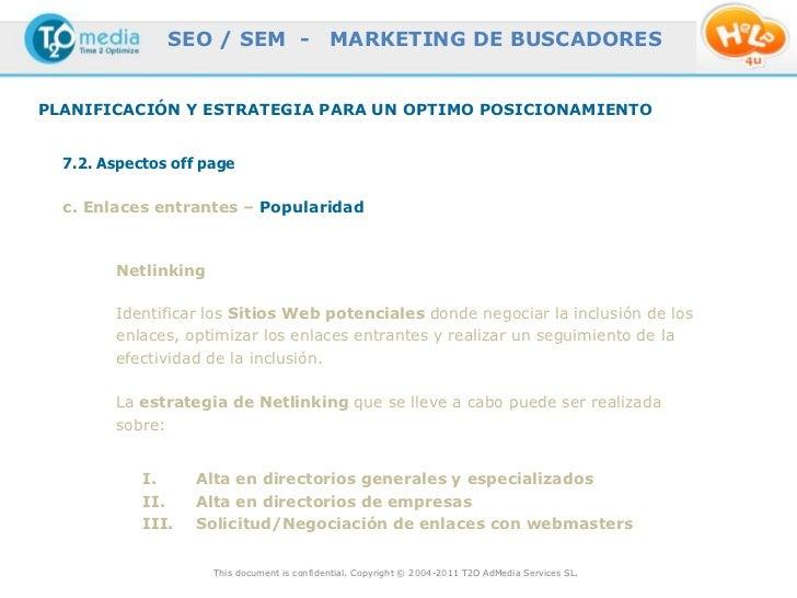 SEO / SEM -                   MARKETING DE BUSCADORESPLANIFICACIÓN Y ESTRATEGIA PARA UN OPTIMO POSICIONAMIENTO  7.2. Aspec...