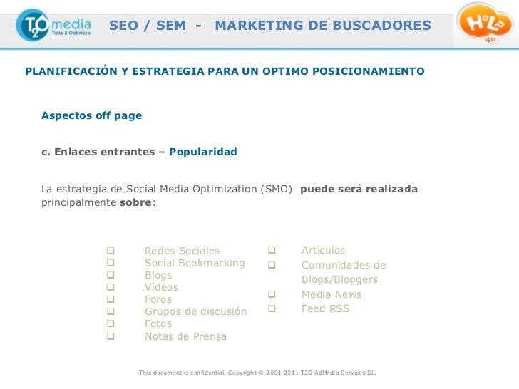 SEO / SEM -                  MARKETING DE BUSCADORESPLANIFICACIÓN Y ESTRATEGIA PARA UN OPTIMO POSICIONAMIENTO  Aspectos of...