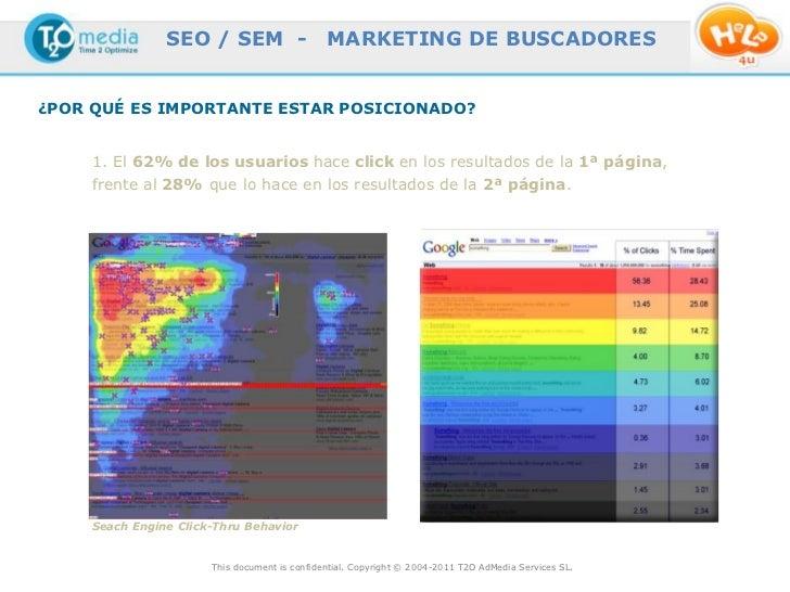 SEO / SEM -                    MARKETING DE BUSCADORES¿POR QUÉ ES IMPORTANTE ESTAR POSICIONADO?     1. El 62% de los usuar...