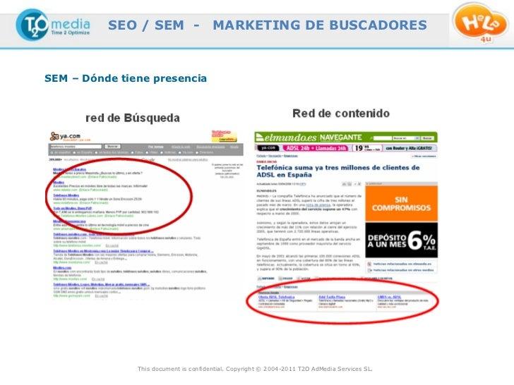 SEO / SEM -                  MARKETING DE BUSCADORESSEM – Dónde tiene presencia               This document is confidentia...