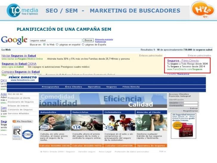 SEO / SEM -                  MARKETING DE BUSCADORESPLANIFICACIÓN DE UNA CAMPAÑA SEM              This document is confide...