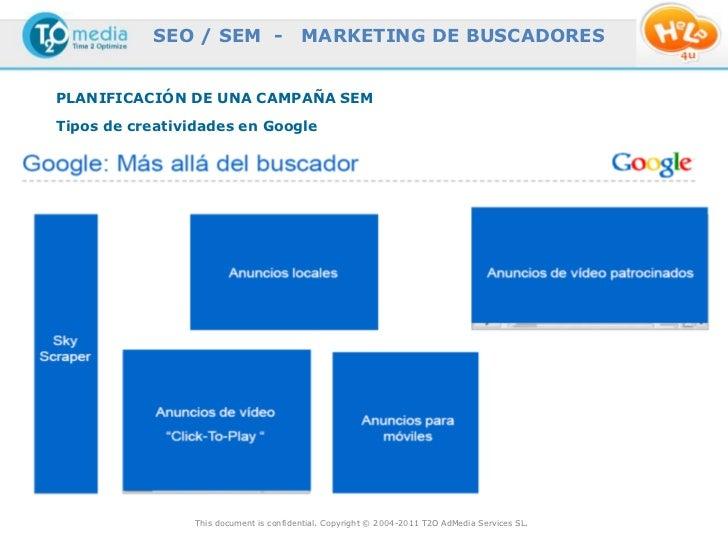 SEO / SEM -                   MARKETING DE BUSCADORESPLANIFICACIÓN DE UNA CAMPAÑA SEMTipos de creatividades en Google     ...