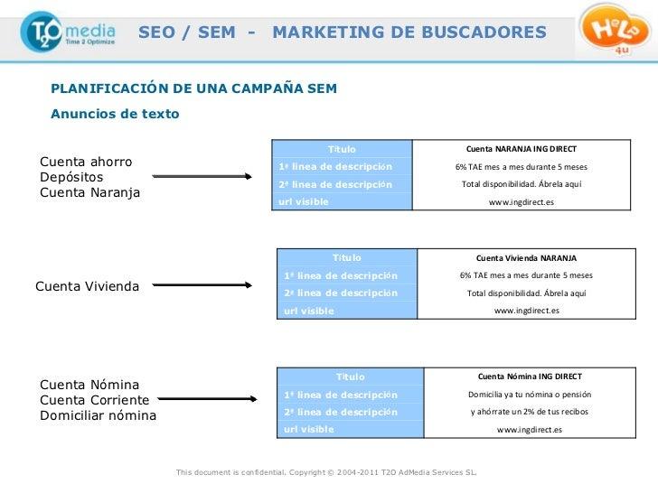 SEO / SEM -                   MARKETING DE BUSCADORES  PLANIFICACIÓN DE UNA CAMPAÑA SEM  Anuncios de texto                ...