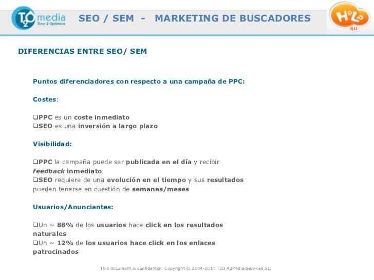 SEO / SEM -                 MARKETING DE BUSCADORESDIFERENCIAS ENTRE SEO/ SEM   Puntos diferenciadores con respecto a una ...