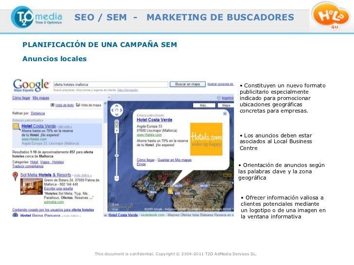 SEO / SEM -                    MARKETING DE BUSCADORESPLANIFICACIÓN DE UNA CAMPAÑA SEMAnuncios locales                    ...