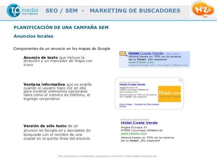 SEO / SEM -                    MARKETING DE BUSCADORESPLANIFICACIÓN DE UNA CAMPAÑA SEMAnuncios localesComponentes de un an...