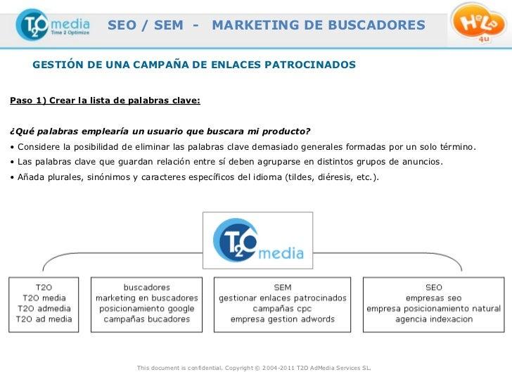SEO / SEM -                    MARKETING DE BUSCADORES     GESTIÓN DE UNA CAMPAÑA DE ENLACES PATROCINADOSPaso 1) Crear la ...