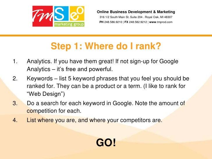 SEO & Social Media Explained slideshare - 웹